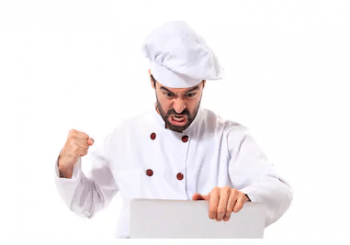 Chef getting angry about a hard ServSafe test.